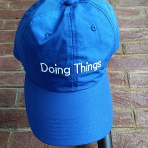 """BRAND. NEW. Outdoor Voices """"Doing Things"""" Blue Cap"""